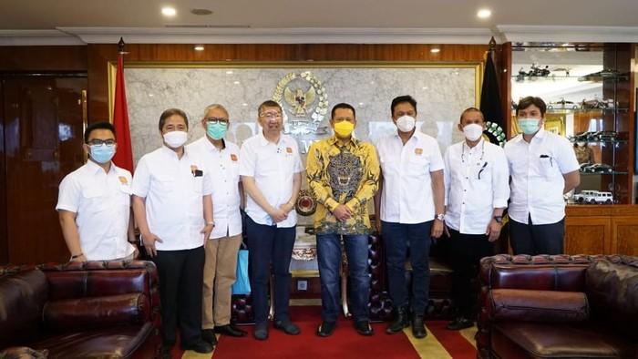 Ketua MPR Bambang Soesatyo menerima kunjungan Dewan Pengurus Pusat Real Estate Indonesia (DPP REI) guna membahas peluang sektor properti Indonesia.