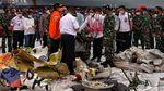 Momen Menhub dan Panglima TNI Cek Serpihan Sriwijaya Air SJ182