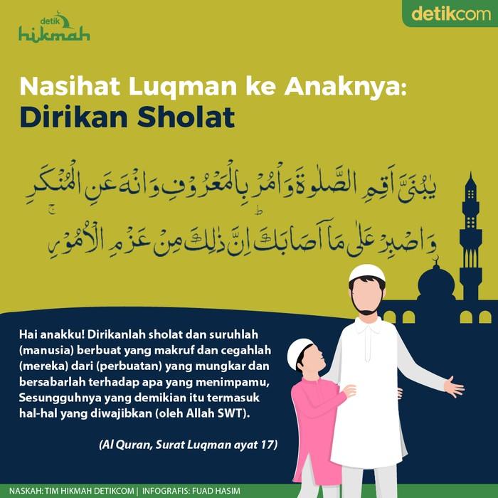 Nasihat Luqman kepada Anaknya: Dirikan Sholat
