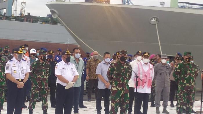 Panglima TNI Konfrensi Pers Temuan Black Box Sriwijaya Air SJ182