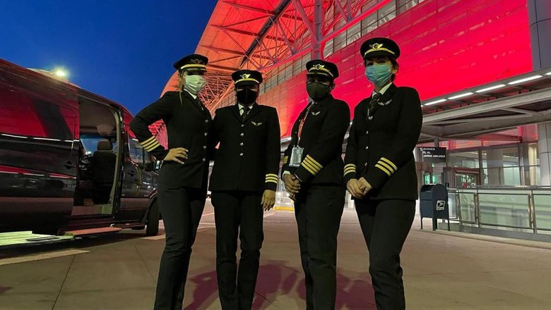 Pilot wanita India lakukan penerbangan terpanjang