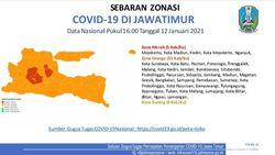 5 Kabupaten/Kota di Jatim Jadi Zona Merah COVID-19, Ini Detailnya