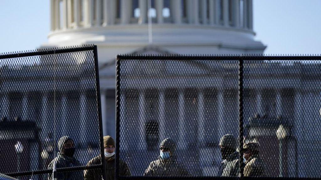 Ribuan Tentara Pagari Capitol Jelang Pelantikan Biden