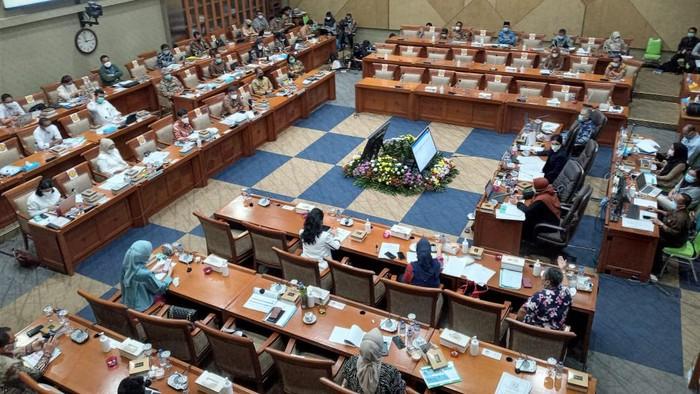 Komisi IX DPR rapat bareng Menkes (Foto: Rahel/detikcom)