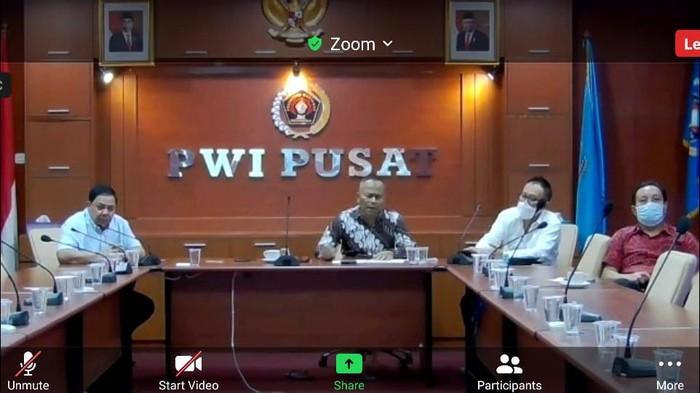 PWI Lakukan Pertemuan Virtual dengan Bamsoet-Menteri UKM Teten Bahas HPN 2021