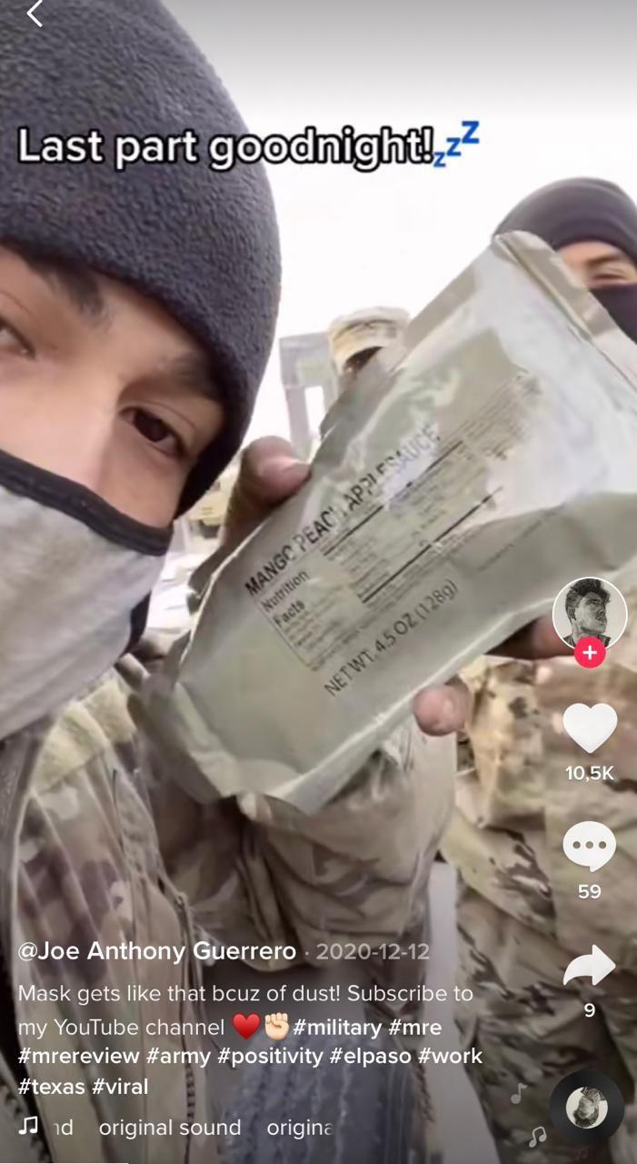 Tentara Ini Jadi Seleb TikTok Karena Hobi Review Makanan Ransum