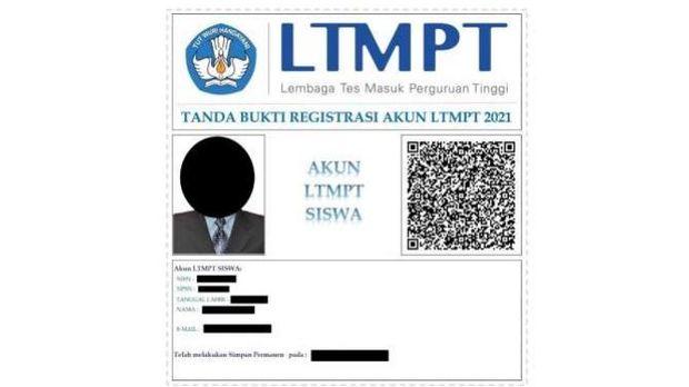 bukti permanen usai cek verifiaksi akun SNMPTN 2021 siswa