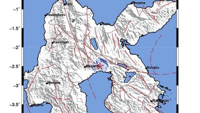 Gempa bumi M 3,5 yang menguncang Luwu Timur, Sulsel (dok. BMKG).