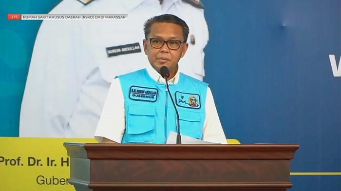 Gubernur Sulsel Nurdin Abdullah saat sambutan di acara vaksinasi Sulsel (dok. Istimewa).