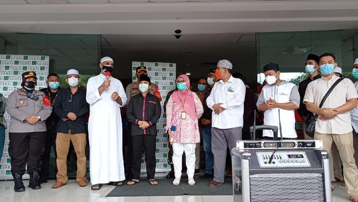 Jumpa pers RS Yarsi dan keluarga Syekh Ali Jaber (Foto: Sachril/detikcom)