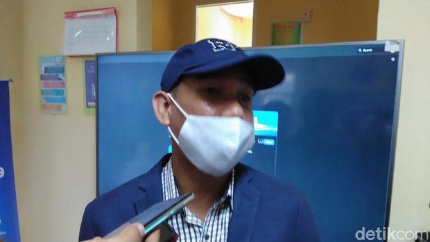 Ketua DPRD Makassar Rudianto Lallo saat acara pencanangan vaksinasi di Makassar (Hermawan/detikcom).