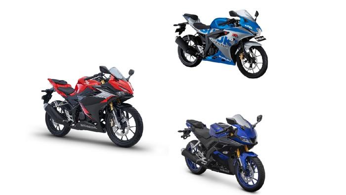 Komparasi desain All New Honda CBR150R Vs Yamaha R15 dan Suzuki GSX-R150