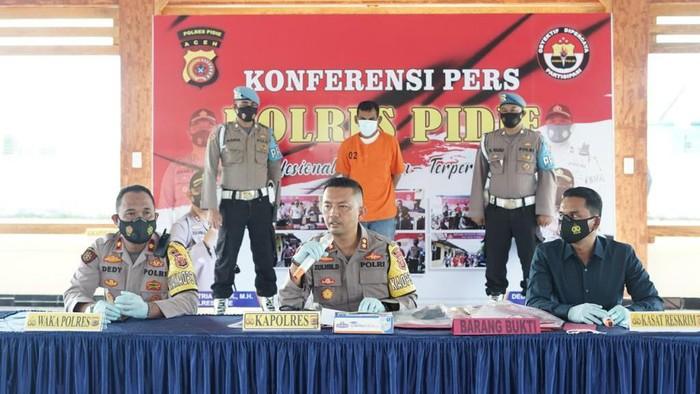 Konferensi pers di Polres Pidie, Aceh (dok. Istimewa)