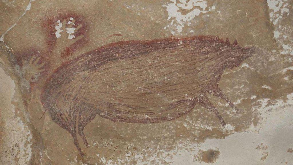 Lukisan Hewan Tertua Dunia Ditemukan di Sulawesi, Usianya 45.500 Tahun