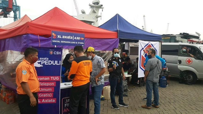 XL Axiata memperkuat jaringan di perairan Kepulauan Seribu, untuk memastikan kualitas jaringan untuk memenuhi kebutuhan tim evakuasi terkait jatuhnya pesawat Sriwijaya Air SJ182.
