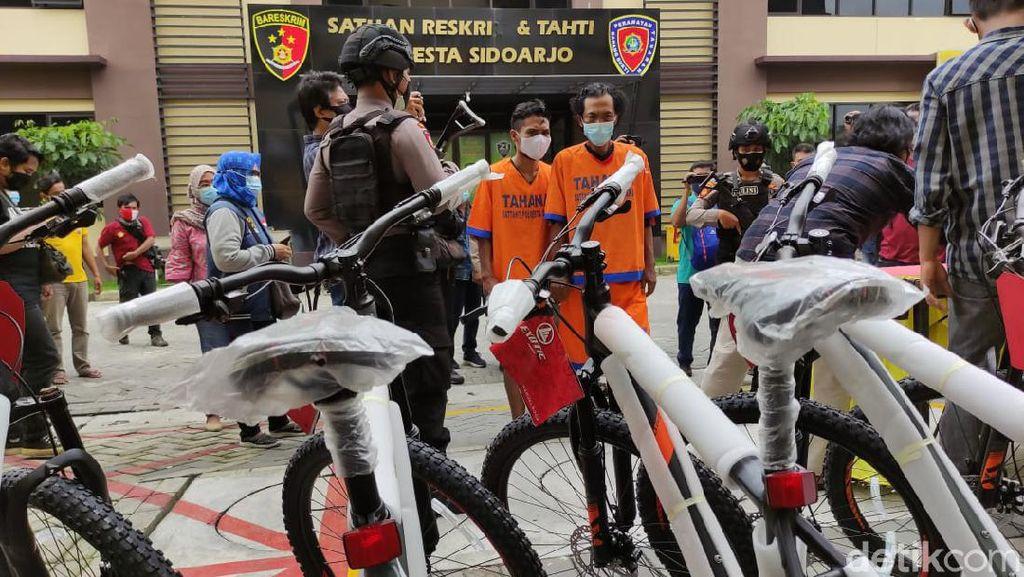 Dua Sopir Ekspedisi Gelapkan 171 Unit Sepeda Gunung Ditangkap