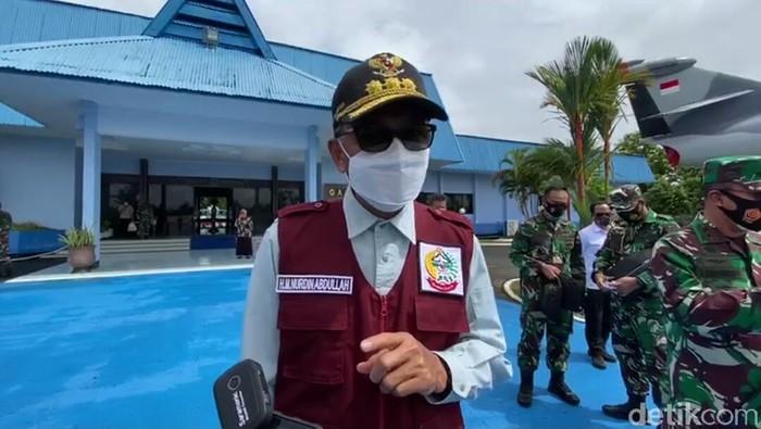 Gubernur Sulsel Nurdin Abdullah saat akan meninjau wilayah terdampak gempa di Sulbar dari udara (dok. Istimewa).