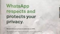WhatsApp Iklan Besar-besaran Demi Tenangkan Pengguna