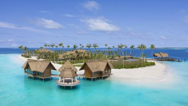 Namanya adalah resor Waldorf Astoria Maladewa Ithaafushi. Luasnya, sekitar 32.000 meter persegi. (CNN)