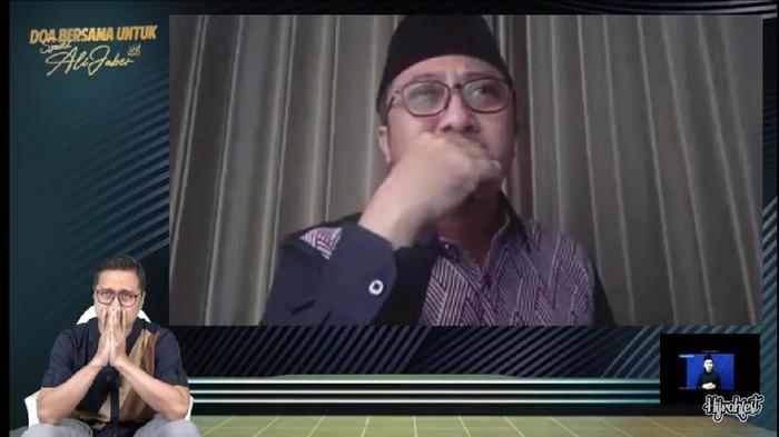 Screenshot YouTube acara doa bersama Syekh Ali Jaber