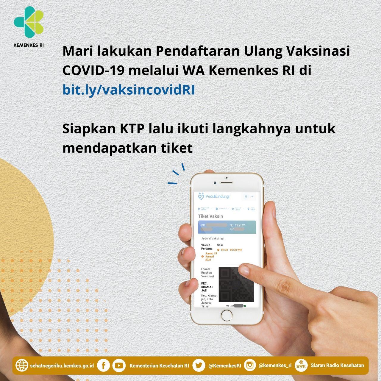 Untuk mempermudah proses registrasi vaksinasi COVID-19 bagi tenaga kesehatan (nakes), pemerintah memanfaatkan chatbot WhatsApp.