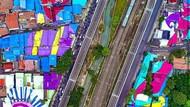 Pemprov DKI Pamer Atap Rumah Warna-warni di Flyover Tapal Kuda