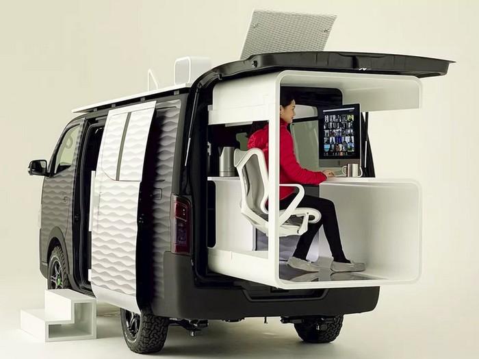 Mobil konsep Nissan Van dimodifikasi jadi ruang kerja