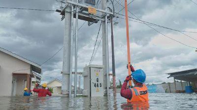 Penormalan Gardu Induk Terdampak Banjir di Kalsel Dikebut
