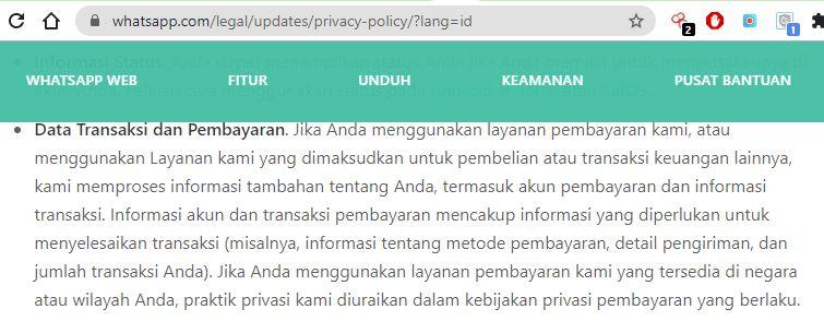 Metadata WhatsApp