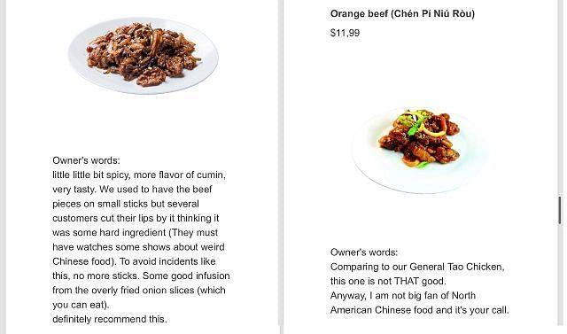 Restoran China Ini Viral Karena Sebut Menu Makanan yang Tak Enak