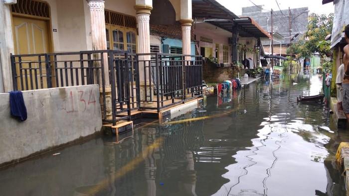 Banjir di Gang Subur Lama, Medan (Datuk Haris-detikcom)
