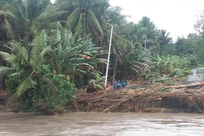 Banjir melanda empat kecamatan di Kabupaten Halmahera Utara (Abdul Fatah/antara)