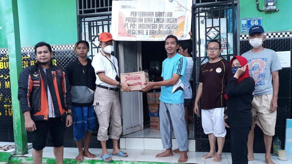 Pos Indonesia Sumbang Sembako hingga Susu untuk Korban Bencana