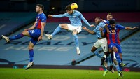 Man City Unggul 1-0 atas Crystal Palace di Babak Pertama