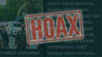 Hoax! Viral Kasdim 0817 Gresik Wafat Usai Vaksin COVID-19, Ini Faktanya
