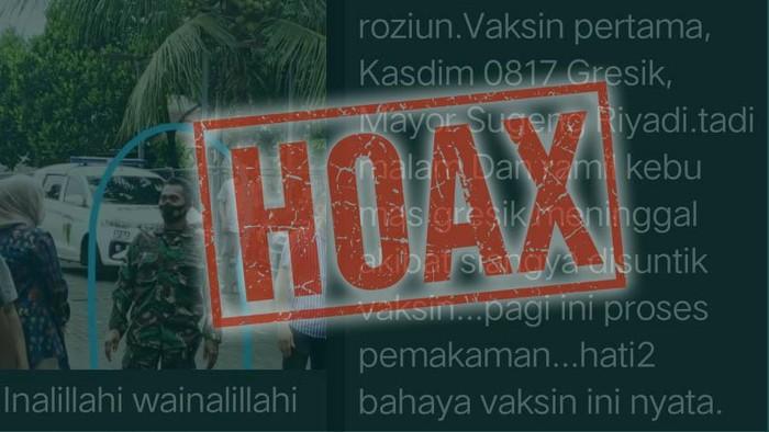 Hoax Danramil meninggal karena vaksin