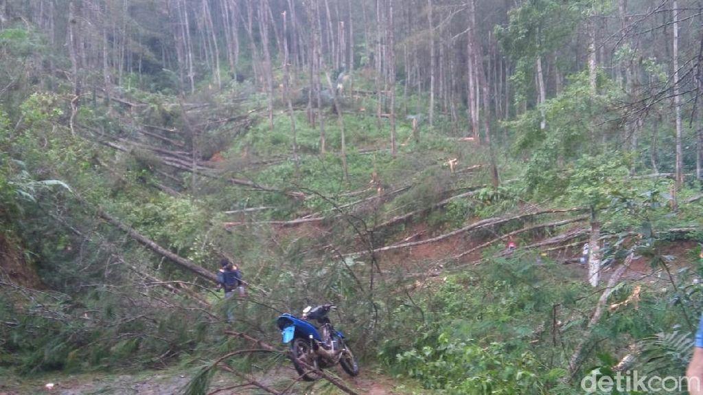Hujan Es dan Puting Beliung Terjang Pasirkuda Cianjur, Tiga Desa Terisolir