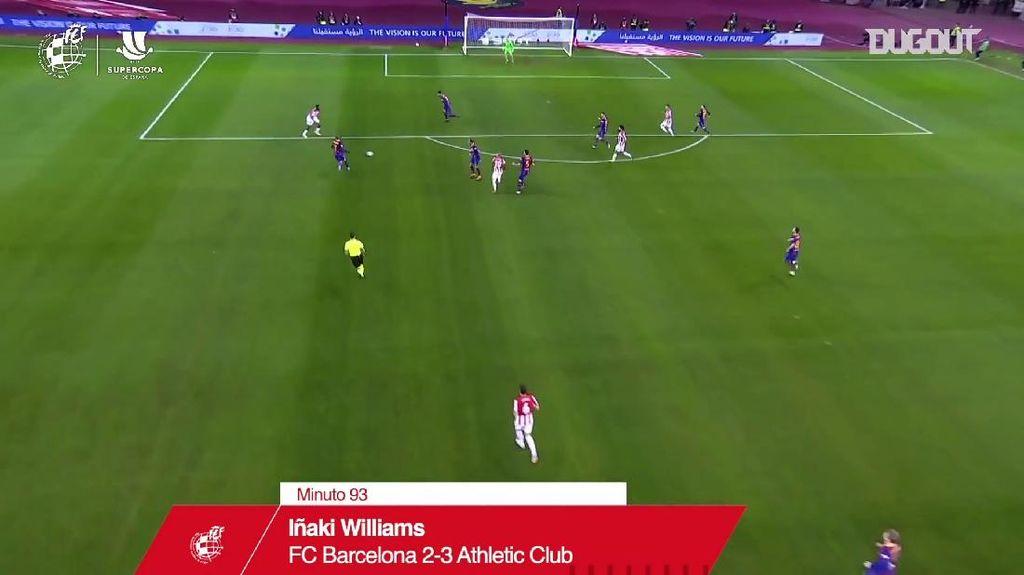 Video Gol Cantik Inaki Williams yang Sungkurkan Barcelona