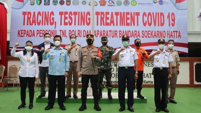 Polres Bandara Soekarno-Hatta gelar rapid antigen bagi karyawan di kawasan Bandara Soekarno-Hatta