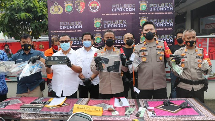 Polsek Cipondoh Gagalkan Penyelundupan Motor Bodong di Tol Tangerang