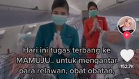 Cerita Pramugari Garuda Indonesia Antar Bantuan untuk Korban Gempa Mamuju