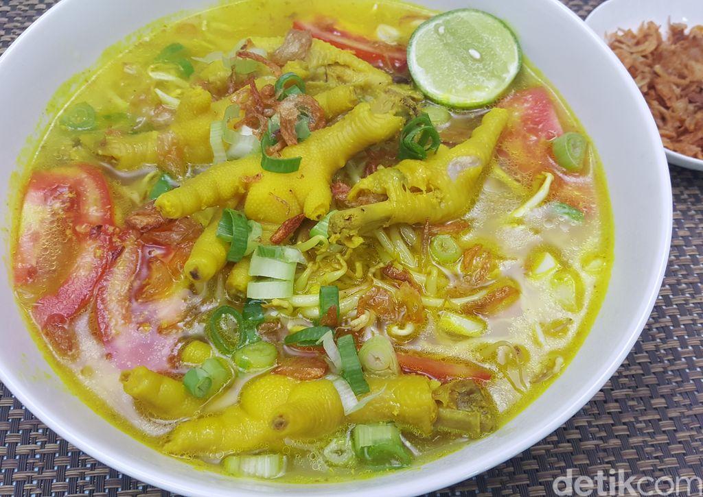 Soto Ceker Ayam Kuning Kuah Bening