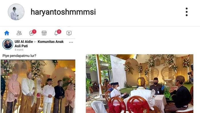 Kata Ganjar Soal Viral Foto Bupati Pati Tak Bermasker di Acara Pernikahan