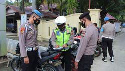 Terjaring Razia Lalu Lintas, 10 Anggota Polres Simeulue Ditilang