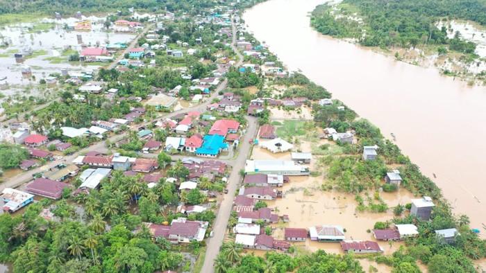 533 unit rumah dan 2.752 jiwa di Kecamatan Sembakung, Nunukan, Kaltara, kebanjiran (dok BNPB)