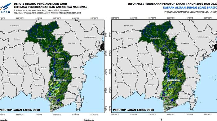 Analisis DAS Barito di Kalsel oleh pengindraan jarak jauh LAPAN (Dok. LAPAN)