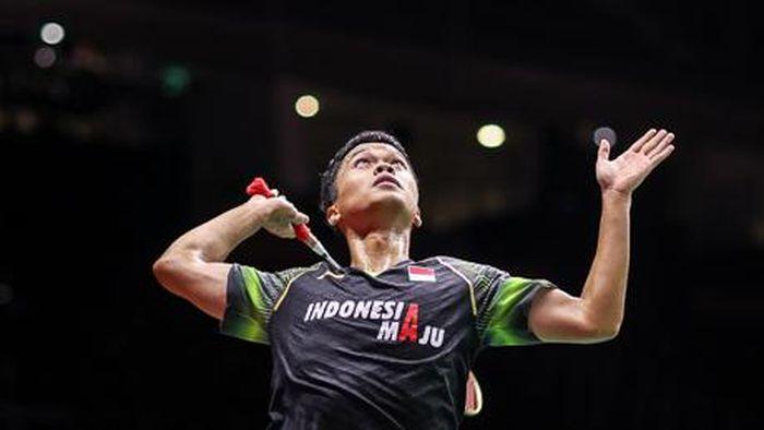 Anthony Ginting lolos dari babak pertama Toyota Thailand Open 2021.
