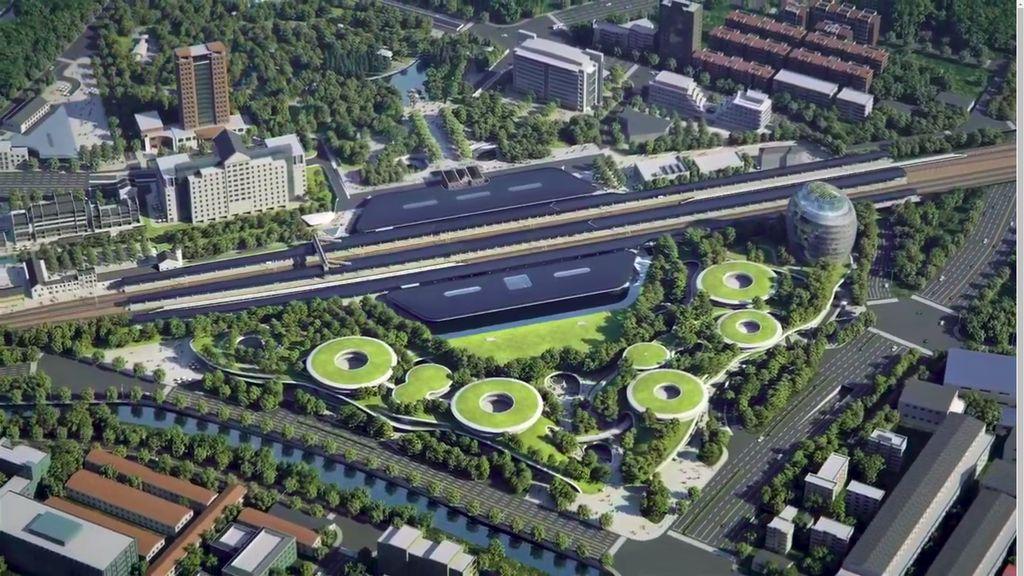 China Bangun Stasiun Kereta Futuristik Bak Berada di Hutan