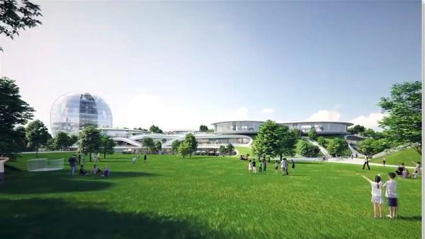 Proyek stasiun baru ini bakal merenovasi stasiun lama yang luasnya mencapai 87 hektar. Tak cuma itu, nantinya stasiun ini juga akan dilengkapi dengan taman yang disebut Peoples Park. Selain itu akan dibangun pula plaza utara dan selatan. Foto: MAD Architects