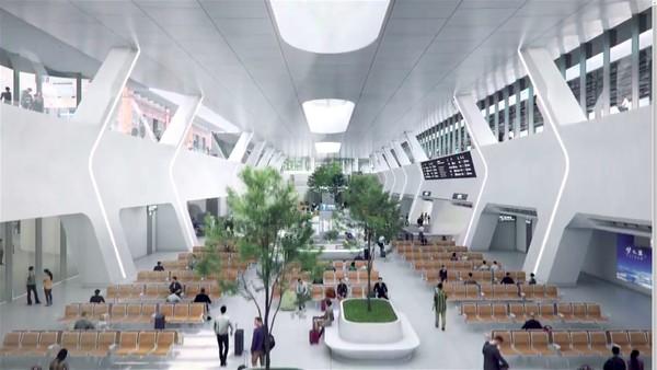 Ma Yansong juga ingin mendirikan stasiun yang tidak hanya menjadi tempat singgah pelancong tetapi juga ruang publik yang bisa dinikmati semua orang. Foto: MAD Architects